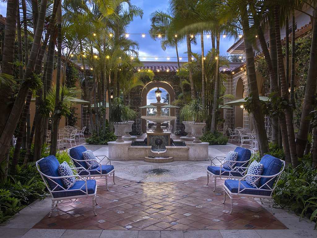 The Palm Courtyard at The Breakers