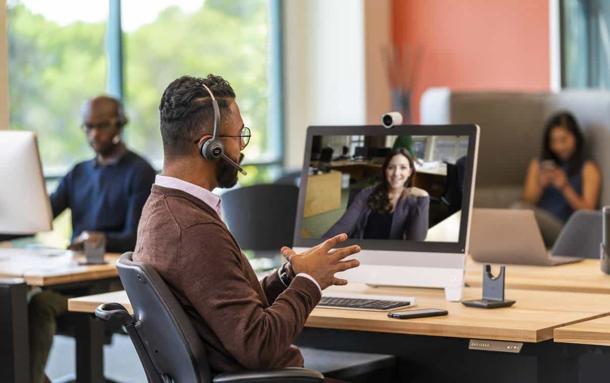 interview with video conferencing