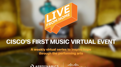 How Live From Home is bringing artists into the Cisco community