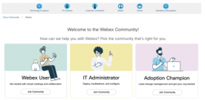 Welcome to the New Webex Community |
