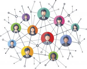Social Network. Welcome to the New Webex Community   Vector illustration of Social Network