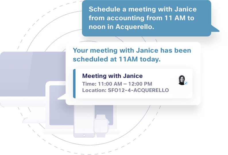 A conversational AI and scheduling a meeting