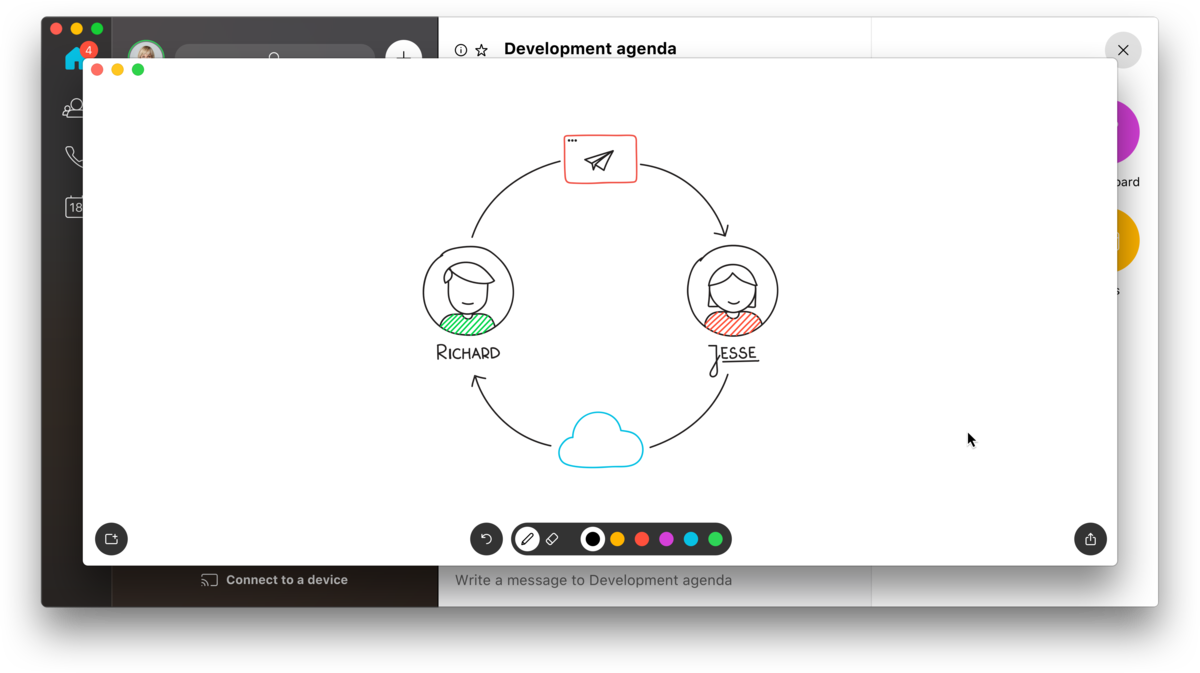 Webex Teams Whiteboarding