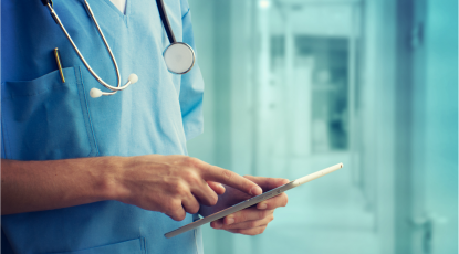 How can screen sharing be used in healthcare?