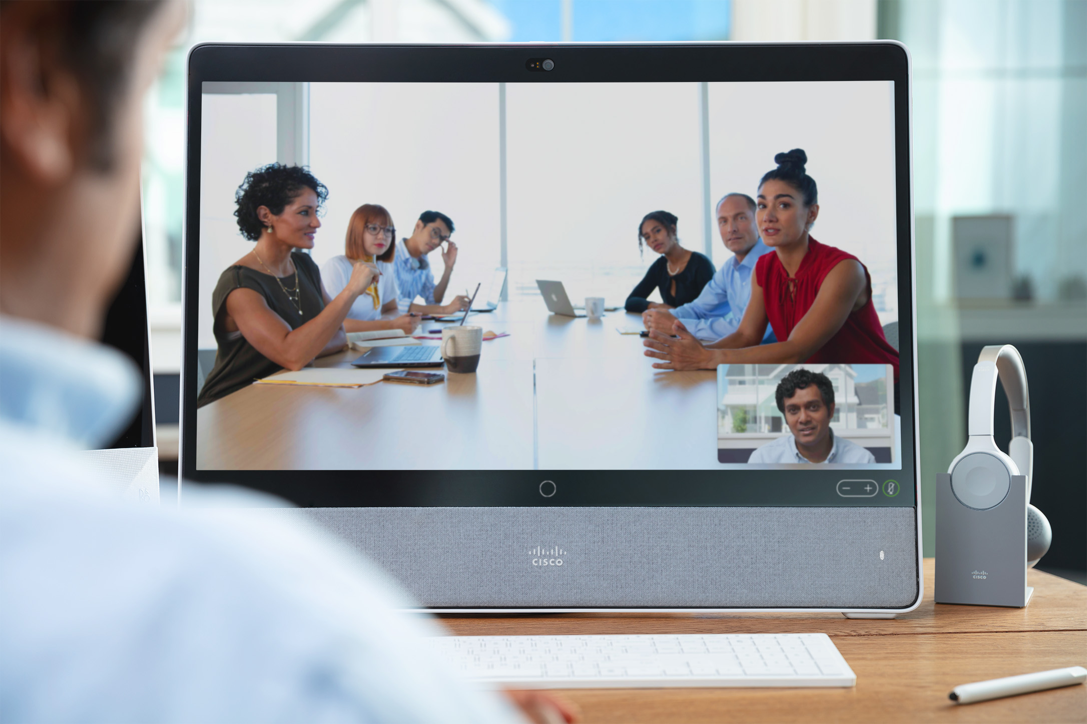 Video Conferencing meeting with noise cancellation