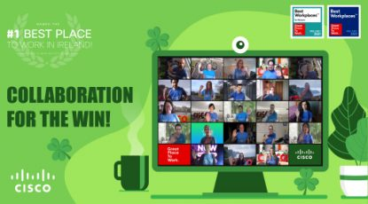 Webex lights up green for St Patrick's Day!