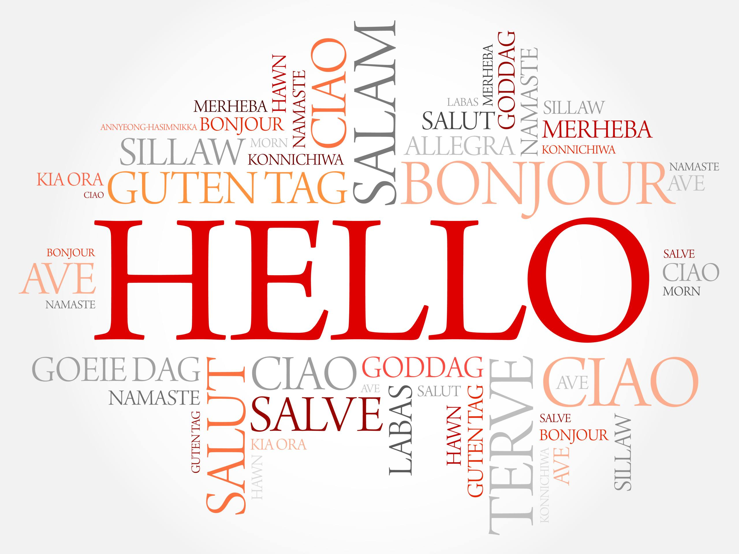 Hello,Word,Cloud,In,Different,Languages,Of,The,World,,Background