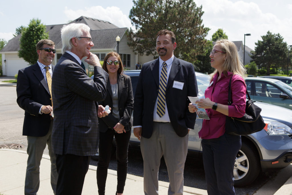 Wyndemere celebrates the ground breaking of their new 33 high-end independent living apartment homes with their partners - Ryan Construction, Bridge Senior Care, and Life Care Services.