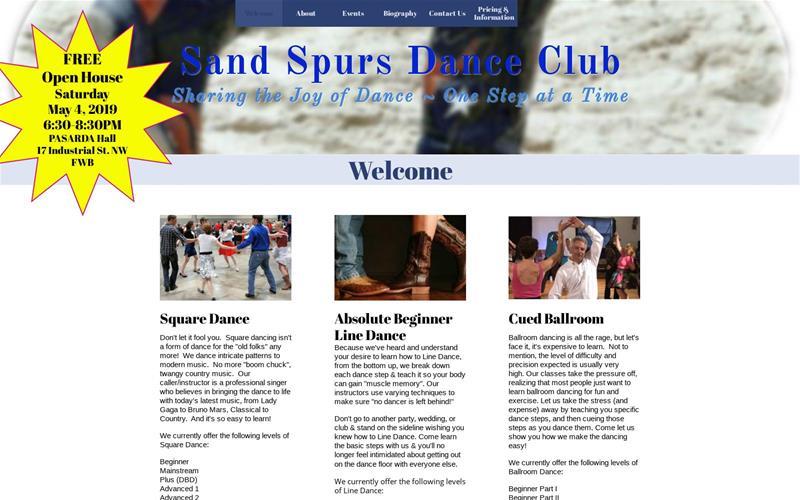 Sand Spurs Dance - Events