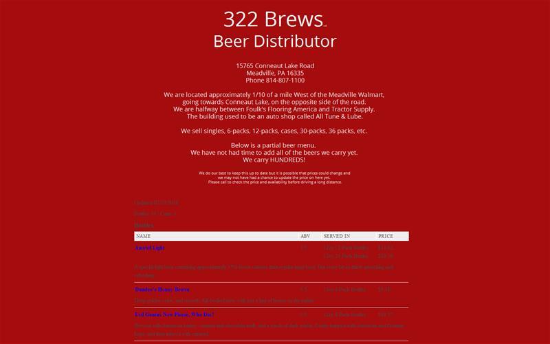 322 Brews LLC