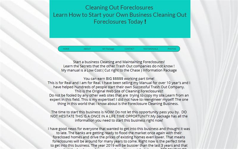 Cleaning Out Foreclosures Learn How To