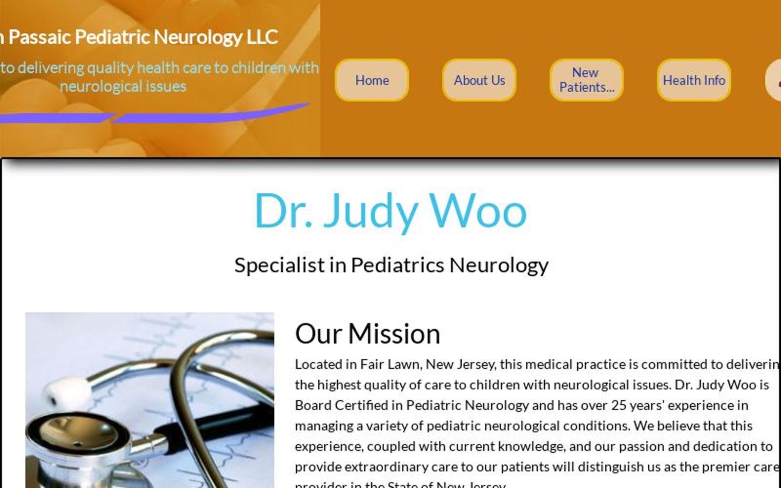 Home Page - Dr Judy Woo, Bergen Passaic Pediatric Neurology