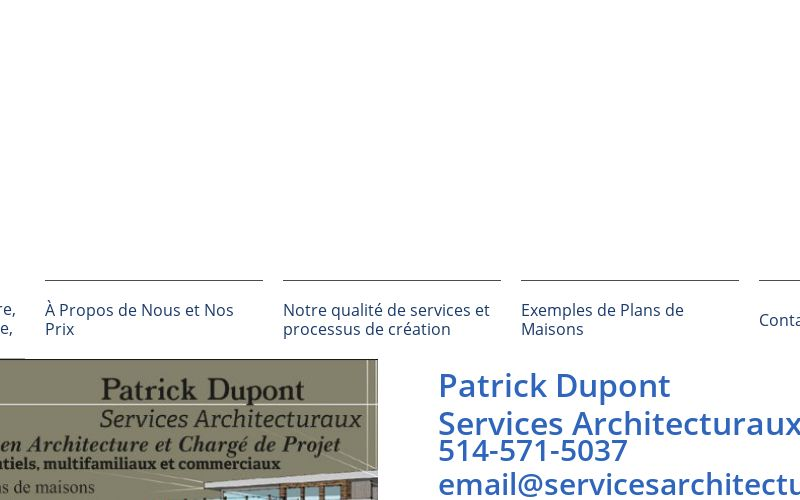 Notre Qualite De Services Et Processus De Creation Pour Services De Plans Et Plans Architecture