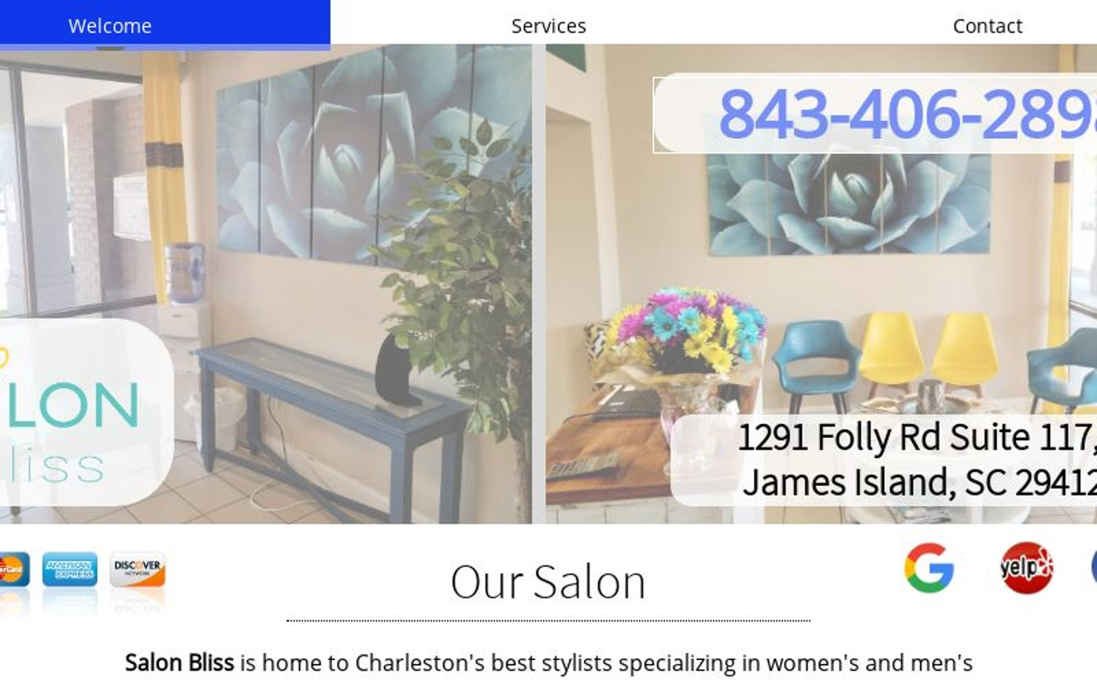 Salon Bliss Hair Salon Charleston Sc 29412