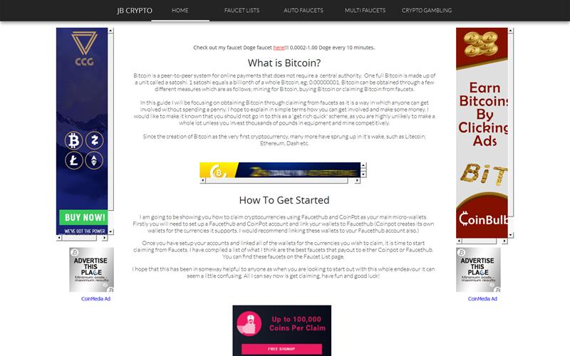 JBcrypto: Auto: Faucets that pay directly to CoinPot and