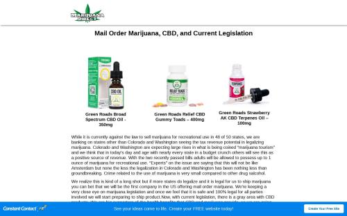 Buy Mail Order CBD and Current Legislation | Marijuana Direct
