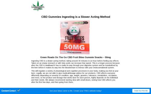 CBD Gummies Ingesting is a Slower Acting Method | Marijuana Direct