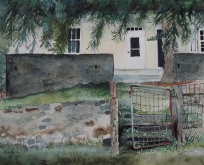 Anna's Gate    Plein Air from Kuerner Farm