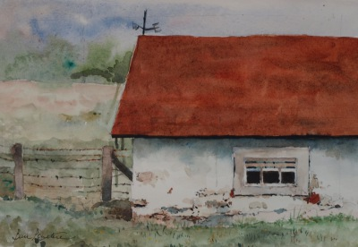 """The Springhouse""    Plein Air from Kuerner Farm"