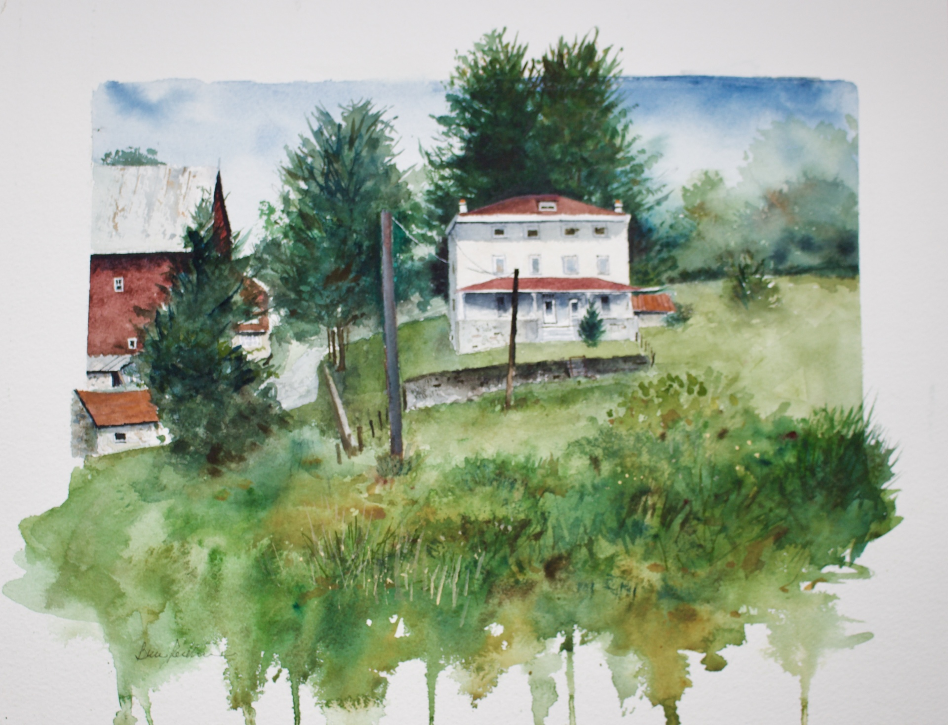 Plein Air painting at the Kuerner farm