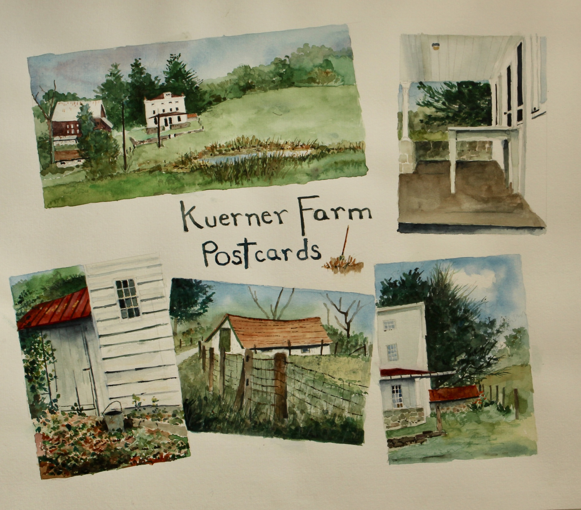 PAINTING AT THE KUERNER FARM