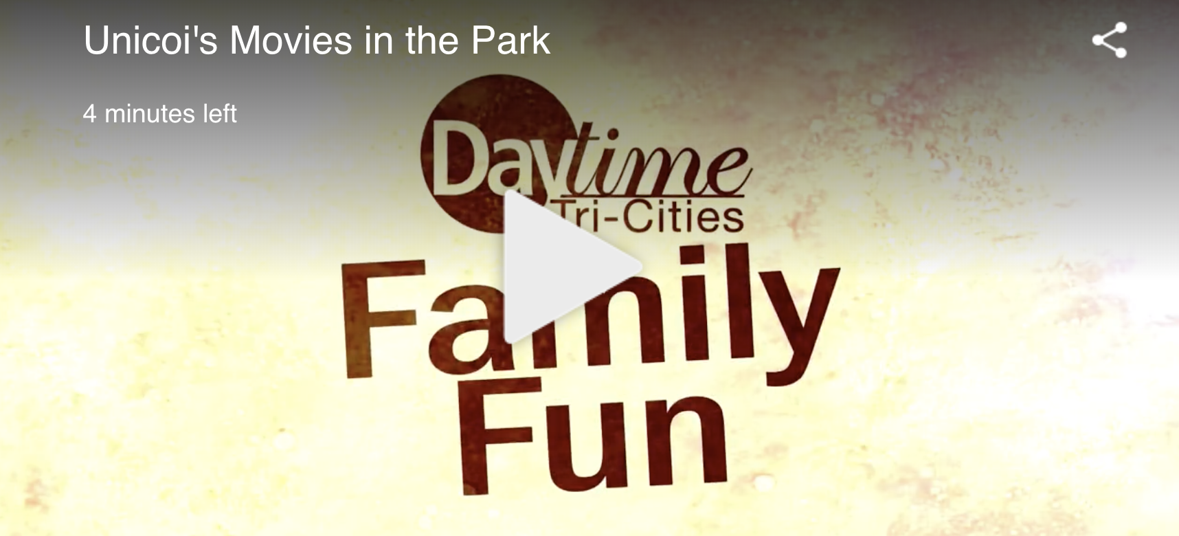 MOVIES IN THE PARK ON DAYTIME!