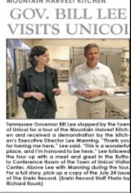 Governor Lee Visits Unicoi