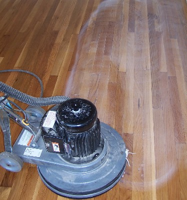 wood floor screening