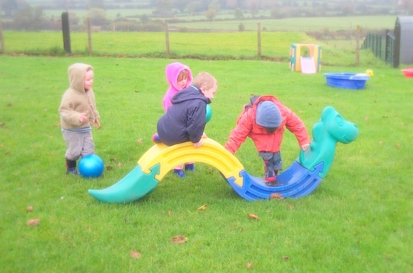 Pupils enjoying free play