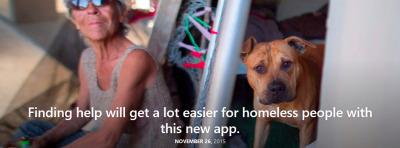 Breakthrough app for homeless people
