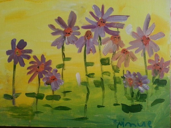 Pink and Purple Daises