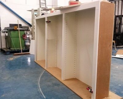 Making the bookcases with traditional style adjustable shelving
