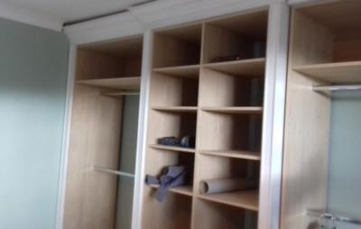 Installation of the wardrobe interiors