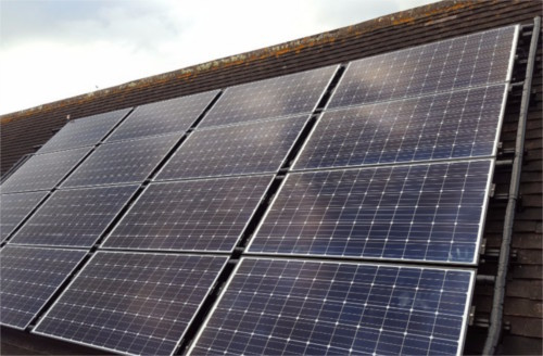 PV-T hybrid solar installation