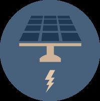 Solar PV graphic convert energy