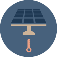 Solar thermal graphic convert energy