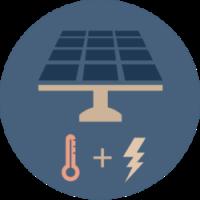 Solar PV-T graphic convert energy