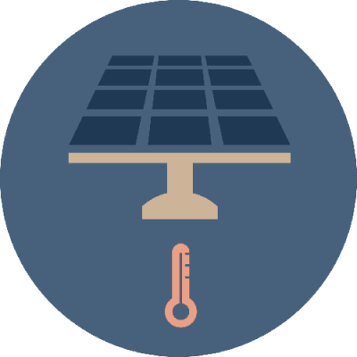 Solar PV graphic icon