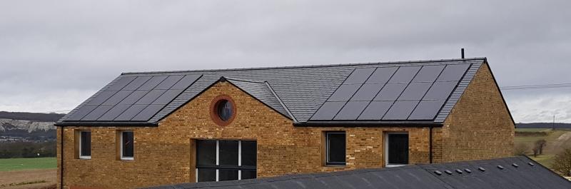 In roof solar convert energy