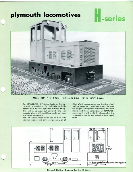 Plymouth-Locomotive-H Models