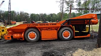 Vintage Joy 10SC Shuttle Car, American Industrial Mining Company, American Industrial Mining.
