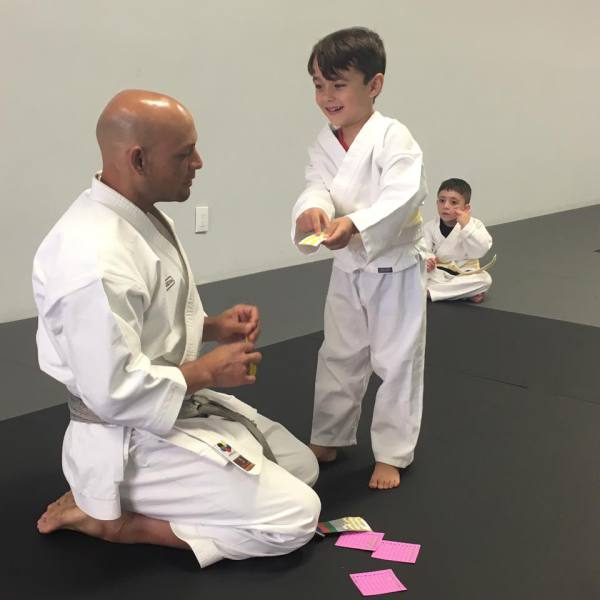 One of our Tiny Tigers getting a stripe!
