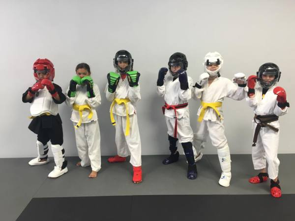 Our Jr Basics getting ready to spar