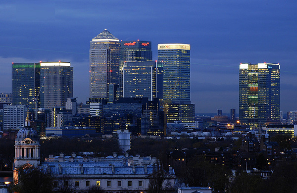 Canary Wharf Business skyline