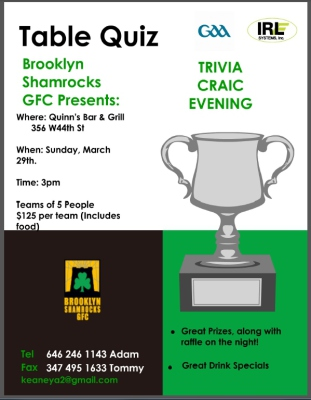 Upcoming Quiz Fundraising Night