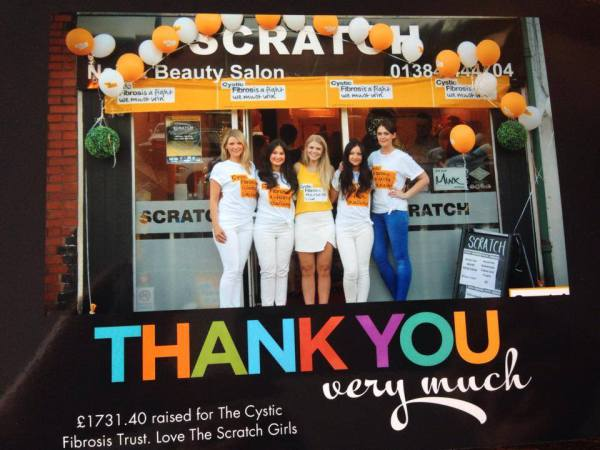 WE RAISED A WHOPPING £1731.40 FOR THE CYSTIC FIBROSIS TRUST