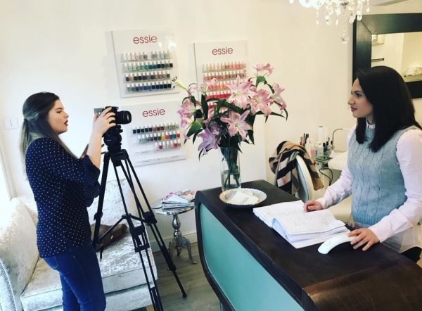 Filming at the Salon for our Salon Promo Video