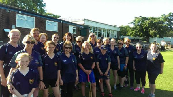 Ladies team after winning their first match against Stones
