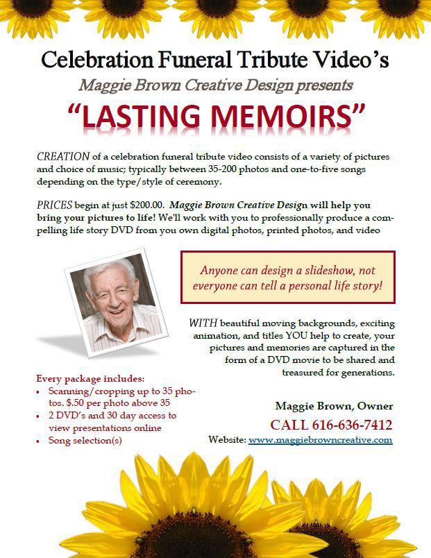 Lasting Memories Flyer