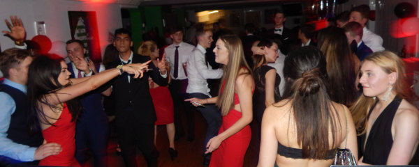 Crowd dancing at Whyteleafe FC Party